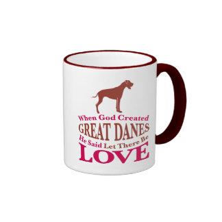 When God Created Great Danes Mugs