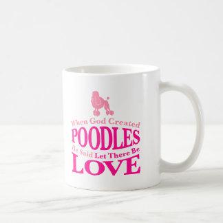 When God Created Poodles Basic White Mug