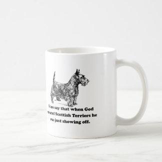 When God Created Scottish Terriers Basic White Mug