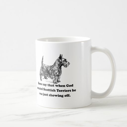 When God Created Scottish Terriers Coffee Mug
