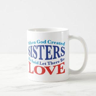 When God Created Sisters Mugs
