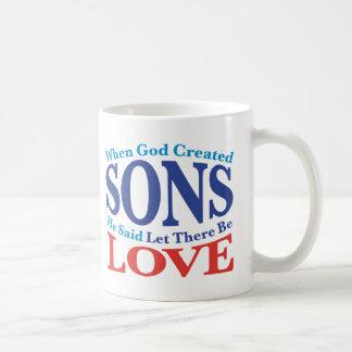 When God Created Sons Basic White Mug