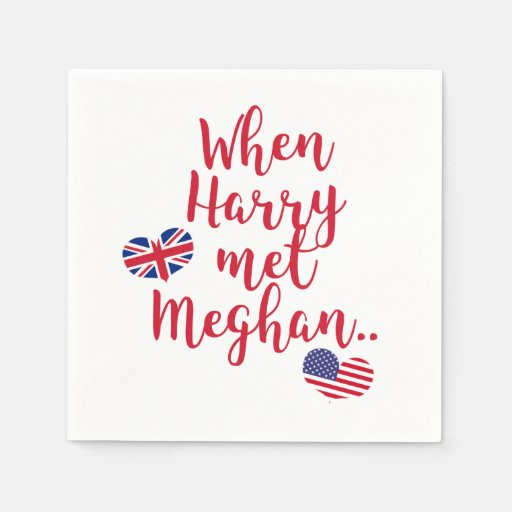 When Harry met Meghan | Fun Royal Wedding Disposable Serviette