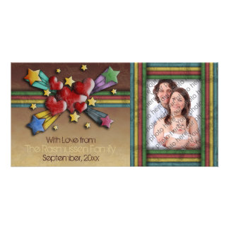 When Hearts Collide, customizable Personalised Photo Card
