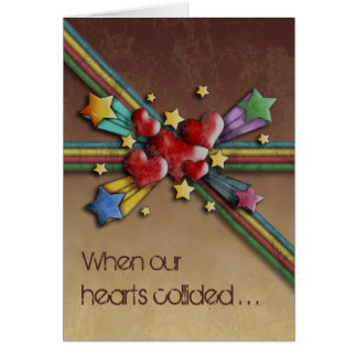 When Hearts Collide, greeting card