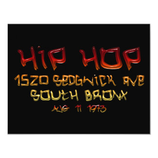 When Hip Hop Was Born Personalized Invites