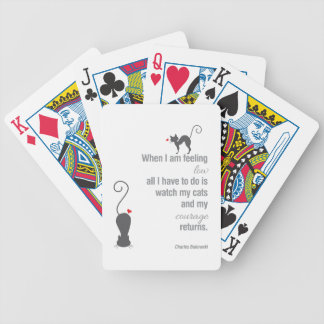 When I Am Feeling Low - Bukowski - inspirational Poker Deck