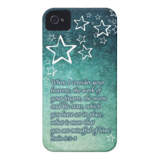 When I Consider the Stars Psalm 8 3-4 Bible Verse Blackberry Bold Cover