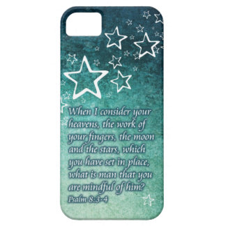 When I Consider the Stars Psalm 8:3-4 Bible Verse iPhone 5 Cover