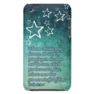 When I Consider the Stars Psalm 8:3-4 Bible Verse iPod Case-Mate Case