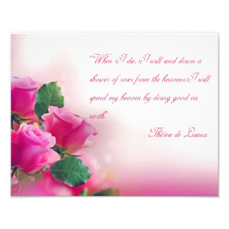"""When I die, I will send down a shower of roses Photographic Print"