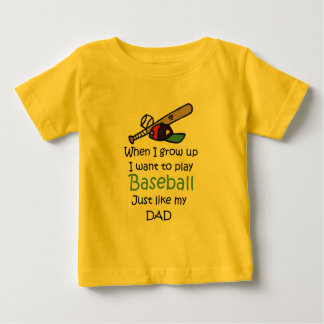 When I grow up Baseball with graphic T Shirt