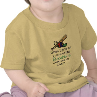 When I grow up Baseball with graphic Tshirt
