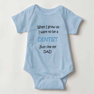 When I grow up Dentist text only Baby Bodysuit
