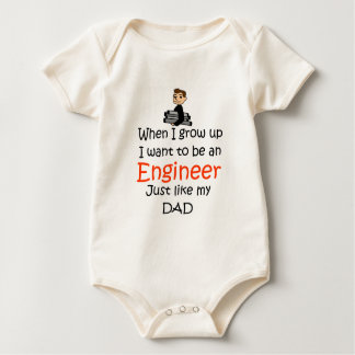 When I grow up Engineer Baby Bodysuit