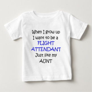 When I grow up Flight Attendant text only Baby T-Shirt