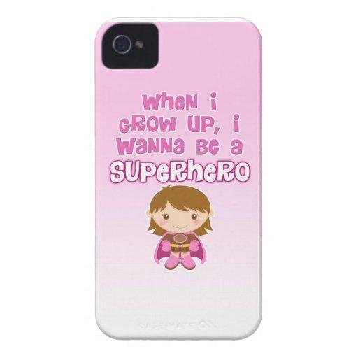 When I Grow Up, I Wanna Be a Superhero Blackberry Bold Cases