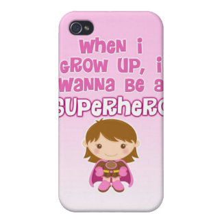 When I Grow Up, I Wanna Be a Superhero iPhone 4/4S Cover