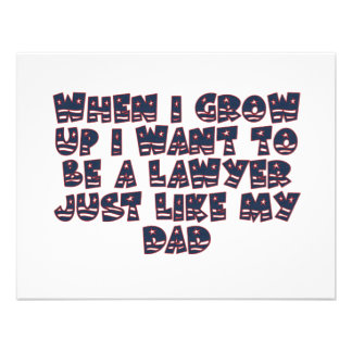 WHEN I GROW UP I WANT TO BE A LAWYER CUSTOM INVITATIONS