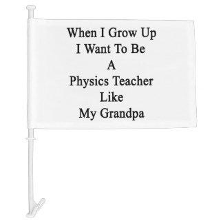 When I Grow Up I Want To Be A Physics Teacher Like Car Flag