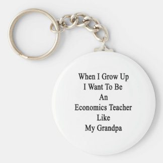 When I Grow Up I Want To Be An Economics Teacher L Basic Round Button Key Ring