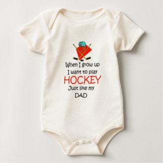 When I grow up Ice Hockey Baby Bodysuit