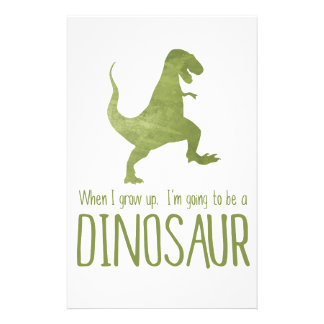 When I Grow Up, I'm Going to be a Dinosaur Stationery
