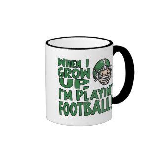 When I Grow Up I'm Playing Football Ringer Mug