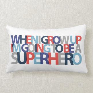 When I Grow Up... SUPERHERO Lumbar Cushion