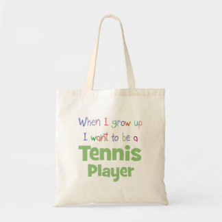 When I Grow Up Tennis Player Tote Bag