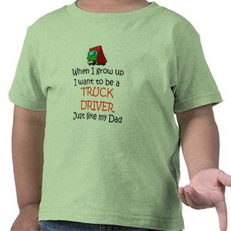 When I grow up Truck Driver Shirt
