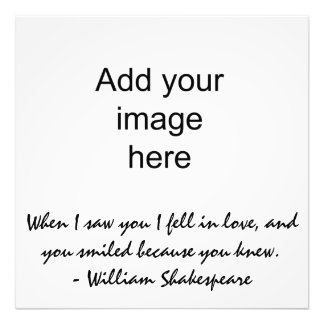 When I saw you I fell in love - Wall Art Photographic Print