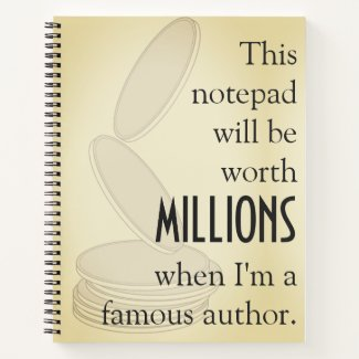 When I'm a Famous Author Notebook