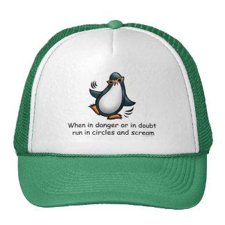 When in danger Funny Penguin Cap
