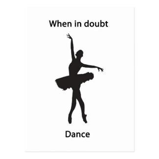 When in doubt dance postcard