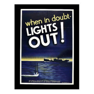 When In Doubt Lights Out! Postcard