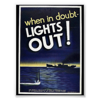 When In Doubt Lights Out! Poster