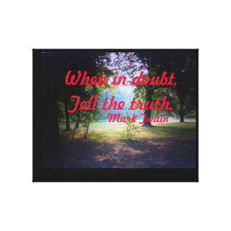 WHEN IN DOUBT MARK TWAIN POSTER CANVAS PRINT