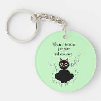 When in Trouble Double-Sided Round Acrylic Key Ring