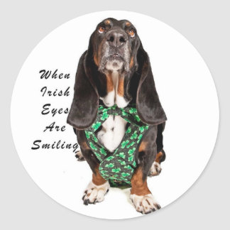 When Irish Eyes are Smiling Classic Round Sticker