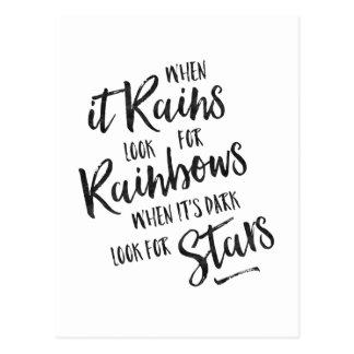 When It Rains - Inspirational Card Postcard