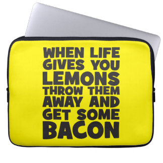 When Life Gives You Lemons, Get Some Bacon Laptop Sleeves
