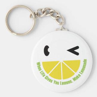 When Life Gives You Lemons, Make Lemonade Basic Round Button Key Ring