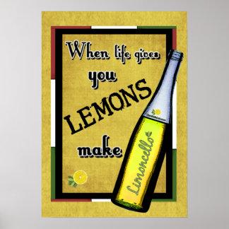 When Life Gives You Lemons Make Limoncello Posters