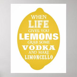 When Life gives you Lemons make Limoncello print