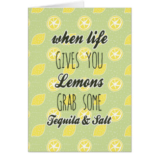 When Life Gives You Lemons Quote Card