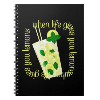 When Life Gives You Lemons Spiral Note Book