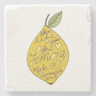 When Life Gives you Lemons Stone Beverage Coaster