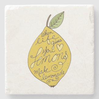 When Life Gives you Lemons Stone Coaster