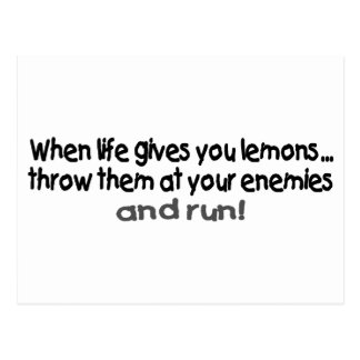 When Life Gives You Lemons Throw Them At Your.... Postcard